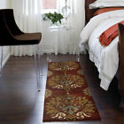 Red Rings Petals Bulbs Leaves Contemporary Area Rug Floral 1610