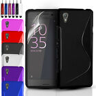 ULTRA THIN SILICONE GEL CASE COVER & SCREEN PROTECTOR FOR SONY EXPERIA E5