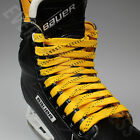 Внешний вид - NEW Elite Pro X7 Molded Tip Wide Hockey Laces - Yellow / Black