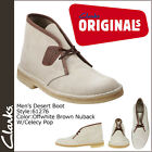 Clarks Originals Desert Boot Men's Casual Shoes White/Brown leather 61276