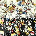 Day Of The Dead Skeletons Halloween Mexican 100% Cotton Fabric 145cm Wide