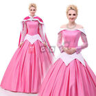 Disney Sleeping Beauty Aurora Princess Cosplay Costume Halloween Party Dress