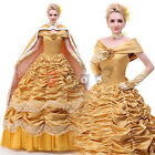 Disney Beauty and the Beast Belle Cosplay Costume Halloween Party Dress BB