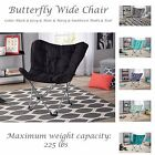 Butterfly Wide Chair 225lbs Microsuede Fabric Collapsible Me