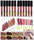 12 NEW Waterproof Long Lasting Makeup Lip Liquid Matte Lipstick Lip Gloss