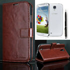New Luxury PU Leather Wallet Flip Case Stand Cover For Samsung Galaxy S4