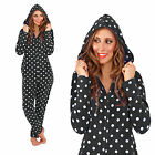 Loungeable Boutique Womens Spotted Onesie Ladies Polka Dot All In One Nightwear