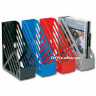 5 PLASTIC MAGAZINE BOX FILE A4 FOOLSCAP HOLDER SHELF/OFFICE DESK © Choose Colour