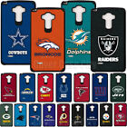 Official NFL Shockproof Armor Fan Case + Tempered Glass for LG G Stylo 2 PLUS