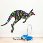 Rainbow Pattern Kangaroo Wall Stickers Kids Nursery Decor Vinyl Decal Art Mural