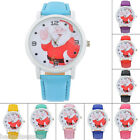 Fashion Women Faux Leather Quartz Watches Santa Claus Christmas Wristwatch