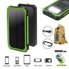 100000mAh Solar Power Bank Dual USB External Charger Pack Smart Phone iPhone AU