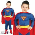 *Boys Childs Kids Muscle Super Hero Comic Book Day Fancy Dress Costume Outfit*