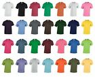 SUMMER 5 PACK FRUIT OF THE LOOM  PLAIN RANDOM MIXED COLOURS T-SHIRTS UNISEX