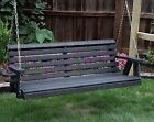 Amish Heavy Duty 800 Lb Roll Back 5ft Porch Garden Swing With Cupholders-usa