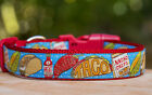 Taco Mexican Food Dog Collar. 100% Australian Made. *Premium Quality*