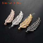 Similar 1Pcs Long Feather/Leave Link Zircon Pendant AWX035
