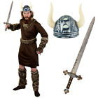 ADULT VIKING MAN COSTUME NORDIC WARRIOR HISTORICAL MEDIEVAL FANCY DRESS