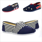 Casual Canvas Women's Men's Shoes Fashion New Flats Lazy Shoes Large Size