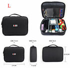 BUBM Waterproof Travel Digital Data Cable Charger Storage Organizer Black Bag