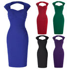 Vintage Style 50's Wiggle Bodycon Slim Pencil Dress Backless Party Cocktail Gown