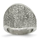 Stainless Steel Textured Ring (20mm)