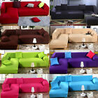 1 2 3 4 Seater L Shape Loveseat Chair Stretch Sofa Couch Protect Cover Slipcover