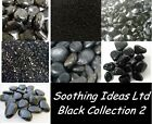 Black Glass Pebbles Marbles Mirror Granules River Stones and Chippings Home Deco