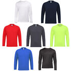 Men's AWDis Cool Long Sleeve T-Shirt Crew Neck Set In Sleeve Desigh Size S-2XL