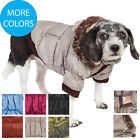 Classic Metallic Fashion Insulated Pet Dog Coat Jacket Parka w/ Removable Hood