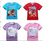 "New girls Boys ""The Secret Life of Pet""shortsleeved cotton top t-shirt  3-7yrs"