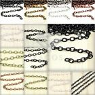 13.12 feet 2/4m Cable Chains Unfinished Chain Necklaces Pendants DIY 0.9x3x5mm