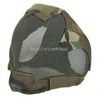 Tactical Airsoft Hunting Paintball Wire Mesh Full Face Protection Mask AOR2