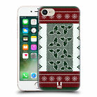 HEAD CASE DESIGNS KNITTED CHRISTMAS HARD BACK CASE FOR APPLE iPHONE 7