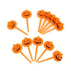 halloween plastic orange pumpkin party appetizers cupcake