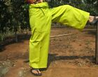 Pants Thin Cotton Long Yoga Thai Comfy Casual In Fluorescent yellow size XL