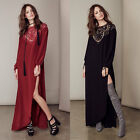 Women Ladies Long Sleeve Backless Lace Hollow Out Party Evening Long Maxi Dress