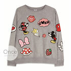 Primark Official Disney Mickey And Minnie Mouse Patches Sweatshirt Jumper