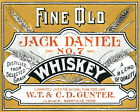 POSTER FINE OLD JACK DANIEL NO. 7 WHISKEY TENNESSEE DRINK VINTAGE REPRO FREE S/H