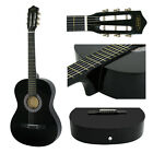 """38"""" Beginners Acoustic Guitar With Guitar Case  Strap  Tuner and Pick Wooden"""
