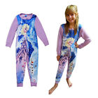 Official Disney Frozen Girls Elsa & Olaf All In One Childrens Pyjamas Sleepsuit