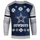 NFL Men's Dallas Cowboys Printed Ugly Sweater, Blue