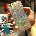 Fashion Shining Sequins Silicone Gel Rubbe Case Cover For iPhone 5S 6 6S 7 Plus