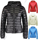 Kyпить NEW WOMENS QUILTED COAT PUFFER HOODED LADIES JACKET PARKA SIZE 8 10 12 14 16 на еВаy.соm