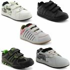 New Boys Girls Kids Babies Strap School Fashion Trainers Shoes Size 8-12