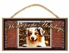 Home for the Holidays Paws on the Windowsill (Pick Your Own Breed) Dog Sign