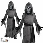*Boys Ghastly Ghoul Ghost Reaper Skeleton Horror Halloween Fancy Dress Costume*