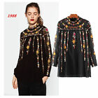SOLD OUT BLOGGER STYLE VTG FLORAL EMBROIDERY BLOUSE DRESS PLUMETIS TUNIC TOP