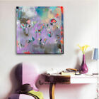 Abstract Flowers Stretched Canvas Print Framed Home Wall Art Decor Painting Gift