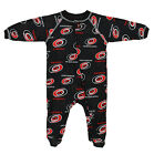 NHL Infants Carolina Hurricanes Full Zip Raglan Logo Print Coverall, Black on eBay